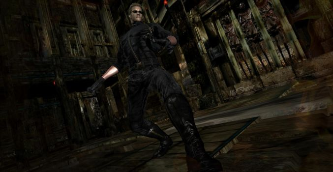 Wesker coming for Chris by WolfShadow14081990