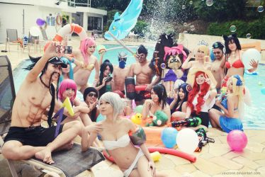 League of Legends - Pool Party Selfie by vaxzone