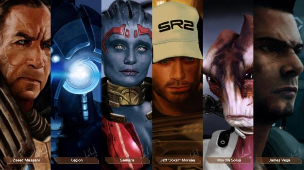 Mass Effect Characters #3 by Facuam