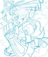 League of Vi Sketch by Ray-D-Sauce