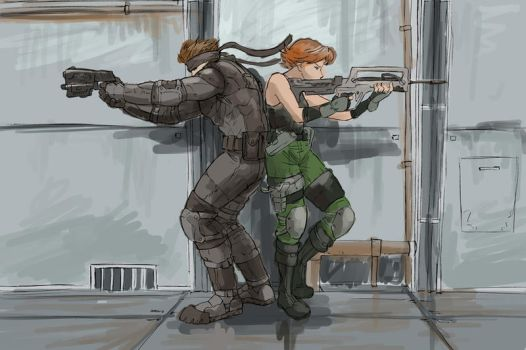 Meryl and Snake by rafaelventura