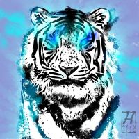 tiger paint by h-leao