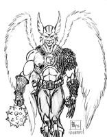 Hawkman pencil sketch by POWERSMITH2