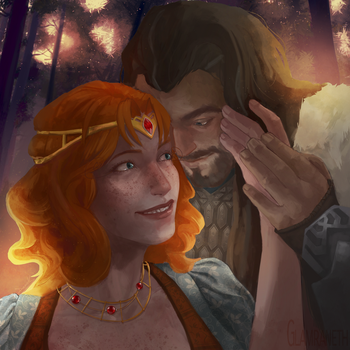 C: Luanne and Thorin by Glamra
