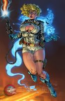 Ghostbusters: Power Girl Colors V1 by CdubbArt