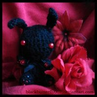 Black n Red Bunny by Si3art