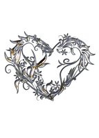 Silver Filled Heart STOCK by GT-stock