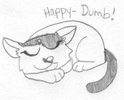 Happy-Dumb by dawny