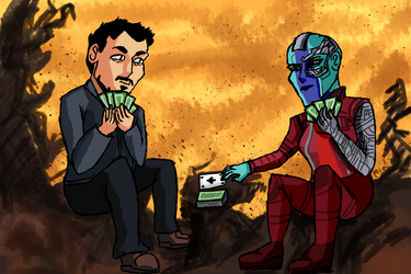 Meanwhile on Titan by MayTheForceBeWithYou