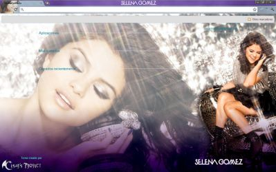 Selena Gomez Chrome Theme by cesarmacross