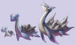 Lapras Family :Fakemon: by rustyyy
