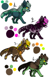 Set 2 : Canines Adopts [CLOSED] by Funkimina