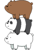 We bare bears Pixel art by nezz94