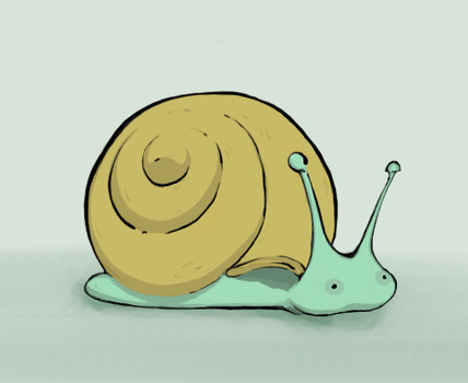 Snail character by porcelainkid