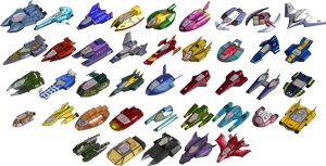 All machines from F-Zero GX (5.9 MB) by Merry255