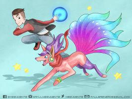 TRAINER KAMIKAT AND HIS POKEMON TEAM by Meg4mente