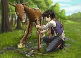 Repairing the Saw-Horse by nolwen
