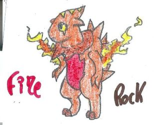 fire/rock adoptable fakemon by epicfail55