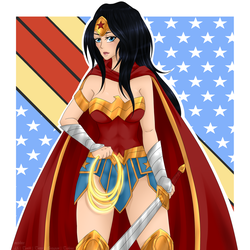 JUSTICE LEAGUE: Wonder Woman by meishiro