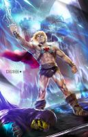 He-man vs Skeletor by alex-malveda
