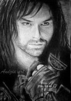 Aidan Turner as Kili from The Hobbit by Anna655