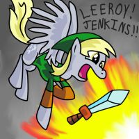 Derpy Charging at an Explosion by Sir-Croco