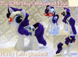 MLP Plush Rarity w Glasses Take 2 by Bon-Bon-Bunny