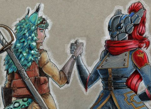 Join hands! After battle plans for adventure!