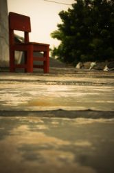red chair by needjeansntees