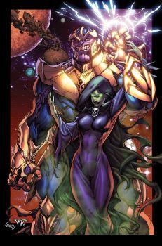 Thanos And Mistress Death By Pant Inked XGX by knytcrawlr