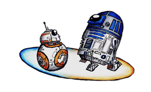 R2 and BB-8 by GoldenYak9753