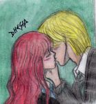 HP7-Rose and Scorpius kiss by Dhesia