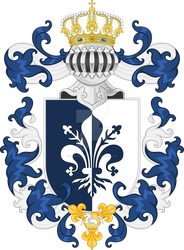 Duke of Pezzano, King of Ventalicci - Coat of Arms by Stevecurious