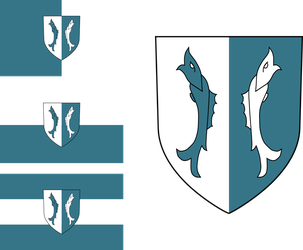 Alternative Cidaris COA (and 3 flag variants) by SMiki55