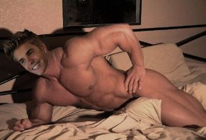Justin muscle morph in bed by bigboysmorphed