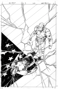 inks for cover 4 of Iron Patriot. by thisismyboomstick