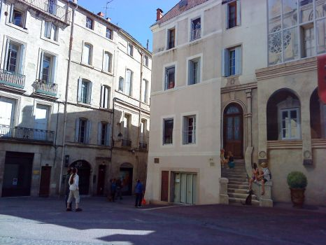 Trompe l oeil painting in Montpellier by Myllena