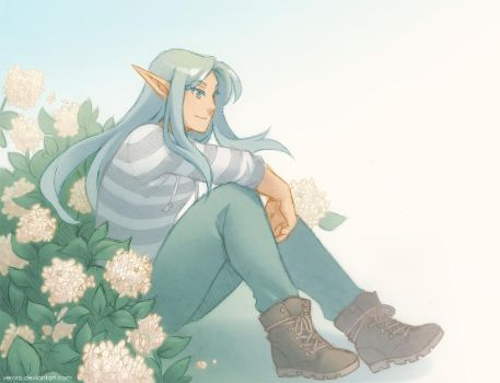 a bunch of flowers by veroro