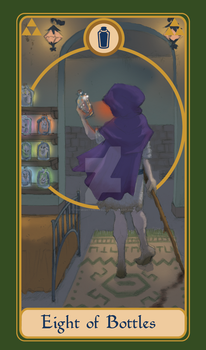 Legend of Tarot - 8 of Bottles by TheMightyPegasus
