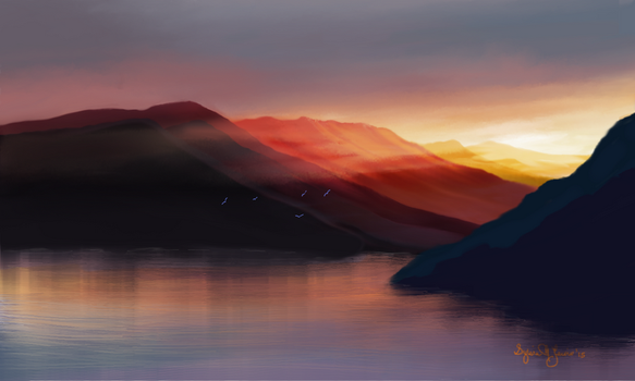 Painted Mountains by Sillybilly60