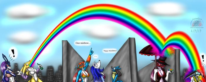 Yay Rainbow!!!! by Snowfyre