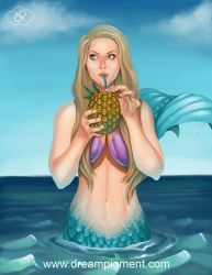Pineapple Drink Mermaid: COLOR by DreamPigment