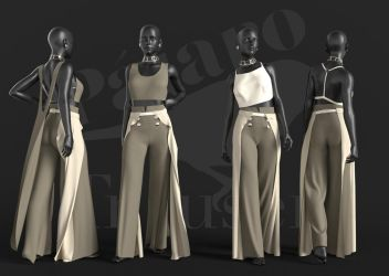 Freebie Pajaro Trousers + PhD Glasses for G8F by Poses17