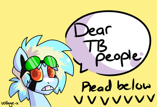 Dear terribleponies followers by Voltage-X