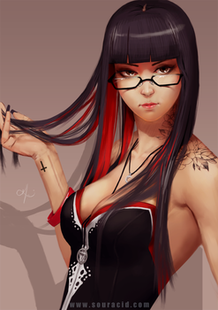 Taka with glasses by SourAcid