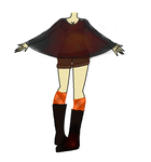 Adoptable outfit (Orange Galaxy) by TheOperatorsShadow