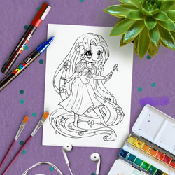 Rapunzel Lineart Revamp by YamPuff