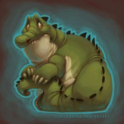 Cringing Croc by PookaDoodle