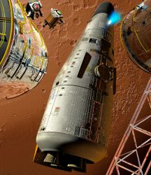 Mars Shuttlecraft Departing by Drell-7