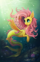 Fluttershy the Seapony by Br0ny